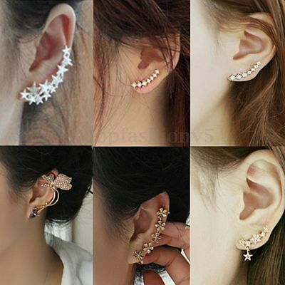 Orecchini Donne Moda Strass Cristallo Oro Argento Earrings Ear Studs 10 Stile