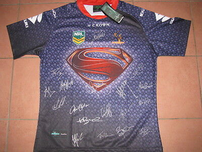 Melbourne Storm Superman Team Hand Signed Jersey