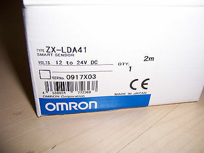 Omron Smart Sensor Laser Amplifier ZX-LDA41 with 2M cable 12 to 24V DC NEW