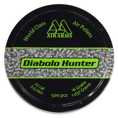 Air Arms Diabolo Hunter Air gun Pellets .22 5.50 mm 500pcs, 16grains 1.037grams