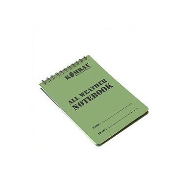 Kombat A6 Waterproof Notepad Army Military All Weather Outdoor Cadet Notebook