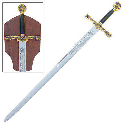 Medieval Knights Sword Excalibur King Arthur Golden From the Stone Collectible