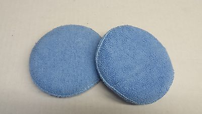 2 pack Premium Microfiber Car Detailing Polish Wax Applicator Round Pad  Soft
