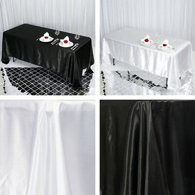 "36 pcs Wholesale Lot 72x120"" RECTANGLE Satin TABLECLOTHS Wedding Party Catering"