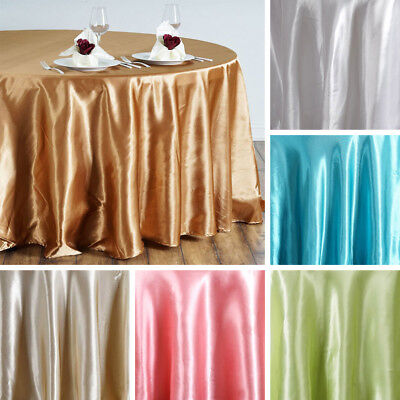 "24 pcs Wholesale Lot 120"" ROUND Satin TABLECLOTHS Wedding Party Reception Linens"