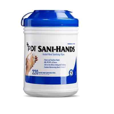 PDI Sani-Hands Instant Hand Sanitizing Wipes (P15984), 220/Canister - Case of 6!