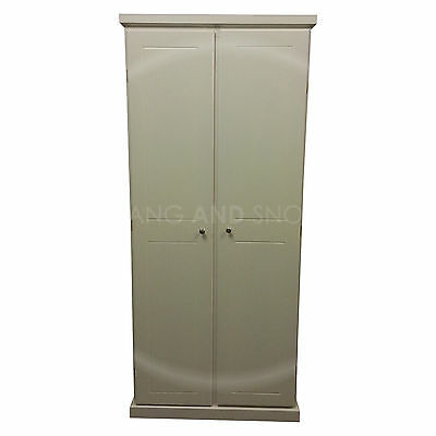 Hand Made Cambridge 1 Shelve Wardrobe Ladies White( Assembled)