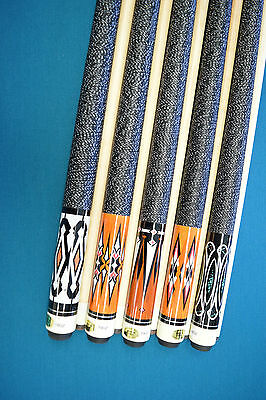 LOT OF 5 POOL CUES New 58/'/' Billiards Cue Stick #D Pool Cue Stick FREE SHIPPING