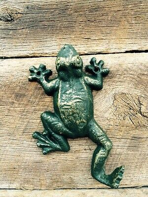 Heavy Cast Iron Antique Style Nautical FROG Coat Hooks Hat Hook Towel Sea TOAD