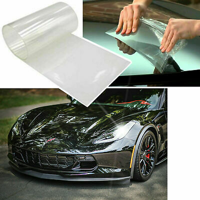 "12"" x 48"" Clear Bra Headlight Bumper Hood Paint Protection Film Vinyl Sheet"