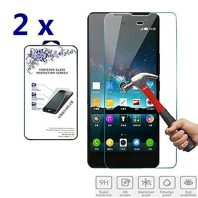 2x For ZTE Nubia Z7 Max Premium Tempered Glass Screen Protector Film 2.5D 0.3mm
