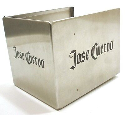 Stainless Steel JOSE CUERVO TEQUILA napkin & straw holder