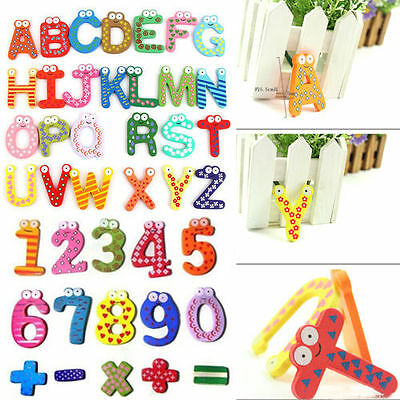 Number Alphabet Fridge Magnet Wooden Baby Child Magnet Learning Educational Toys