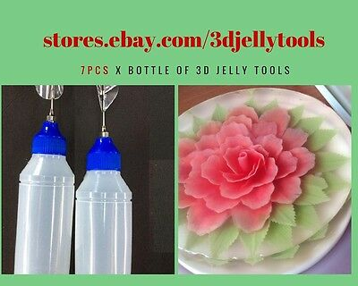 7 Bottle of 3D Gelatin Art Tools - 3D Jelly Tools - not include needle