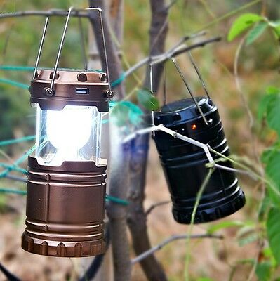 Outdoor Solar Power Portable Lantern Rechargeable Night Light Camping Tent Lamp