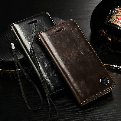 NEW!!! Luxury Magnetic Flip Leather Stand Wallet Case Cover for iPhone Samsung