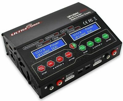 Ultra Power UP120AC DUO LiPo/NiMh Ladegerät 2x 12A / 2x 120Watt *NEW VERSION*