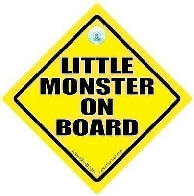 LITTLE MONSTER ON BOARD CAR SIGN, Baby on Board Sign, Little Monster Sign, Bumpe