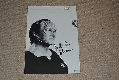 ANDREW ROBINSON signed Autogramm 15x20 cm In Person STAR TREK DS9