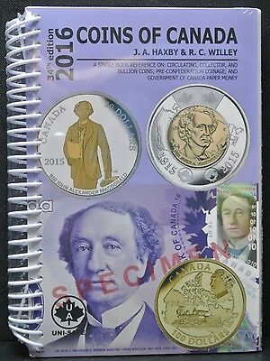 2016 COINS OF CANADA - Haxby 34th Edition by Haxby & Wiley - NEW & SEALED