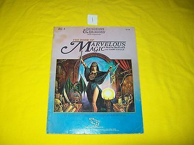 Ac4 The Book Of Marvelous Magic Dungeons & Dragons Game Supplement Tsr 9116 1