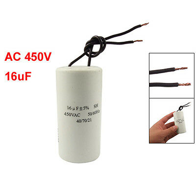 CBB60 AC 450V 16uF Wired Motor Run Start SH Capacitor 50/60Hz LW SZUS