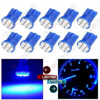 10X Blue T10 W5W 158 192 194 906 8SMD LED Dash Speedometer Instrument Light Bulb