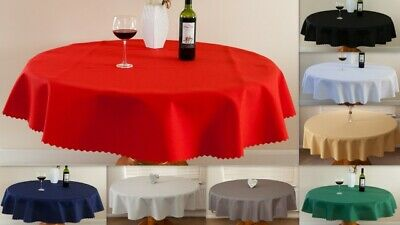 """High Quality Linen Look Tablecloth """"OVAL""""100%Polyester avail.2 sizes &13 colours"""