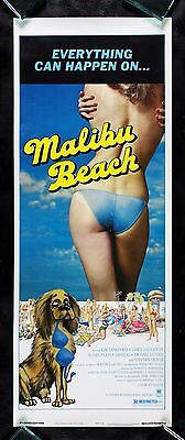 MALIBU BEACH * CineMasterpieces ORIGINAL MOVIE POSTER INSERT 1978 CALIFORNIA