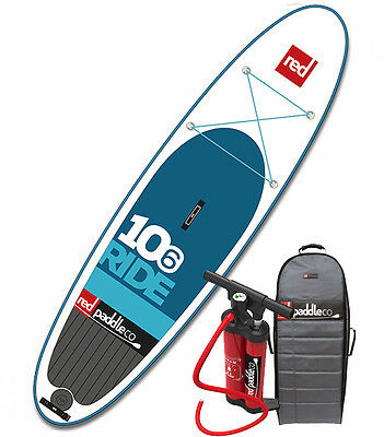 2016 Red Paddle Co Ride 10-6 Inflatable Air SUP Paddle Board w/Titan pump/pack