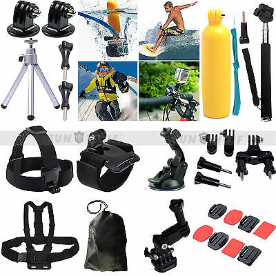 28in1 Accessories Set Kit Pole Monopod Head Chest Strap For Gopro Hero 2 3 3+ 4