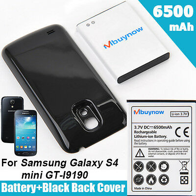6500mAh Extended Battery for Samsung Galaxy S4 mini GT-i9190/i9195 + Cover UK