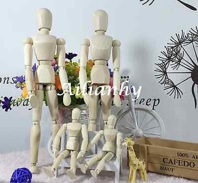 Wooden Movable Mannequin Painting Drawing Sketch Puppet Art Figure Model Flex Hy