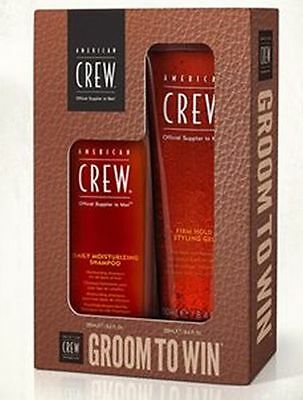 AMERICAN CREW speciale kit Uomo Daily Moist Shampoo 250 e Firm Hold Gel 250