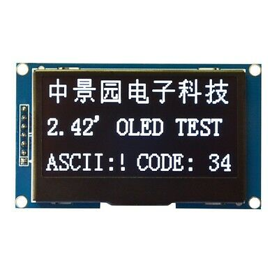 "2.42"" 12864 OLED Display Module IIC I2C SPI Serial FOR Arduino UNO R3 51 WHITE"