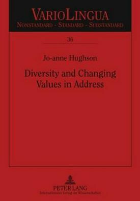 Diversity And Changing Values In Address Hughson  Jo-anne 9783631584859