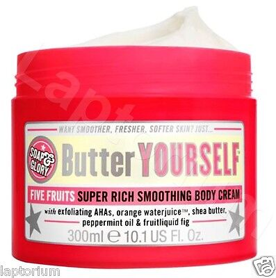 Soap And Glory Butter Yourself Five Fruits Super Rich Smoothing Body Cream 300ml