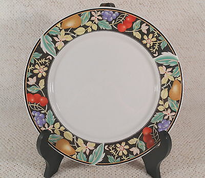"Lynns China Stoneware 10 1/4"" Dinner Plate - Cocktail / Fruit & Flowers Pattern"