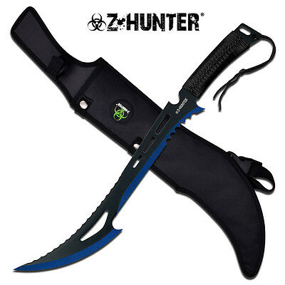 """Tactical Survival 24"""" Fixed Blade ZOMBIE MACHETE Hunting Sword Full Tang Knife"""