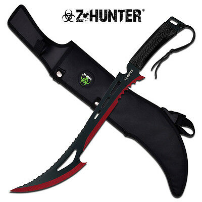 "24"" Tactical Survival Fixed Blade ZOMBIE MACHETE Hunting Sword Full Tang"