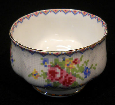 Royal Albert petite point bc open sugar pink blue yellow flowers England