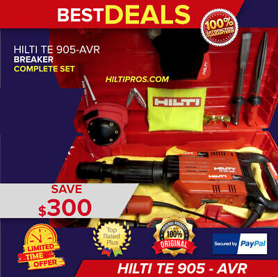 Hilti Te 905-Avr Breaker Hammer, Great Condition, Angle Grinder,fast Ship