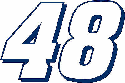 "#48 Jimmie Johnson Racing Sticker Decal 12"" x 18"" - Various colors"
