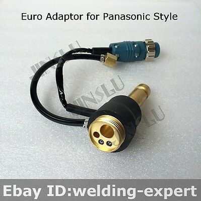 CO2 MIG Welding Panel Socket Euro Connector Adaptor Panasonic Weld Parts