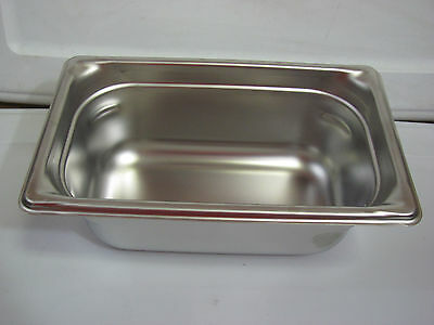 "Vollrath Super Pan 3 90442 1/4 Size Anti-Jam Stainless Steam Table Pan - 4"" Deep"