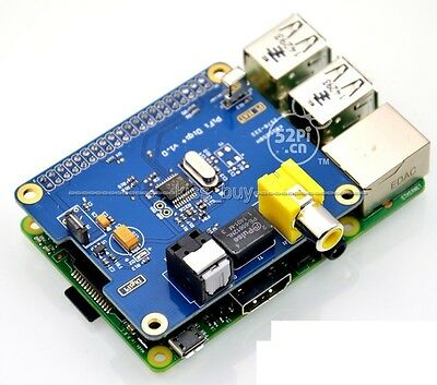 HIFI DiGi+ Digital Sound Card I2S SPDIF Optical Fiber RCA Raspberry Pi 2/ A+/ B+