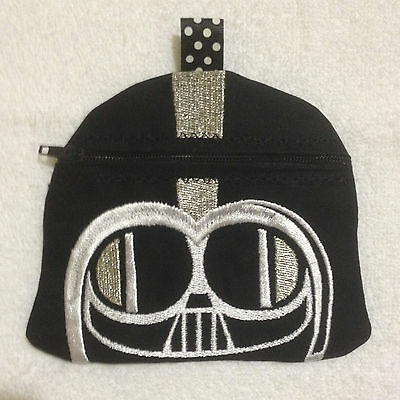 In-The-Hoop ZIP BAG * VADER 1 * Machine Embroidery Patterns * 5x7in hoop