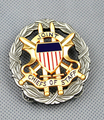 Us Joint Chiefs Of Staff Identification Metal Badge