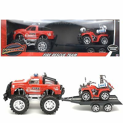 HTI Roadsterz Fire Rescue Team Large Toy Vehicles Friction Powered - 1373032
