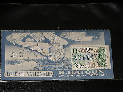 1/10 e -  R. HATOUN - BORDEAUX - SERIE B - 1971 - LOTERIE NATIONALE